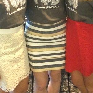 J Crew Metallic Stripe Skirt